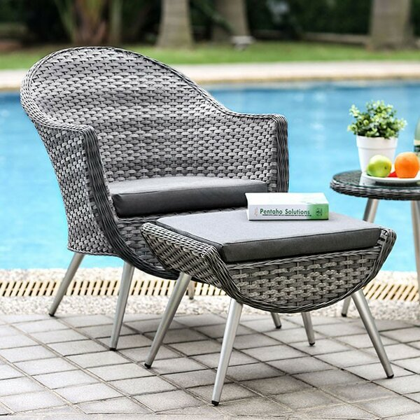 Dimitri Patio Chair with Cushion by Corrigan Studio