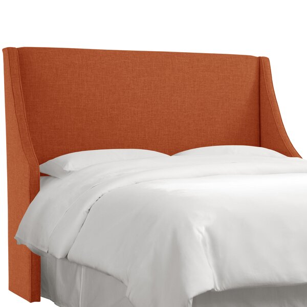 Maser Swoop Arm Upholstered Wingback Headboard by Mercury Row Mercury Row