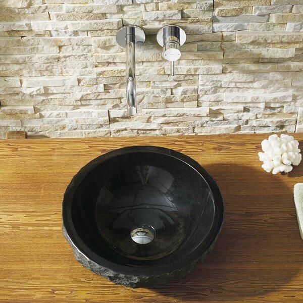 Melia Stone Circular Vessel Bathroom Sink by Virtu USA