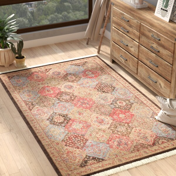 Jeannie Brown Area Rug by Bloomsbury Market