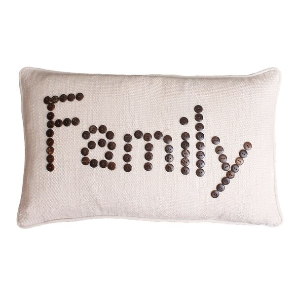 Catalina Family Coconut Button Lumbar Pillow by Thro by Marlo Lorenz