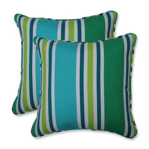 Hester Indoor/Outdoor Stripe Throw Pillow (Set of 2)