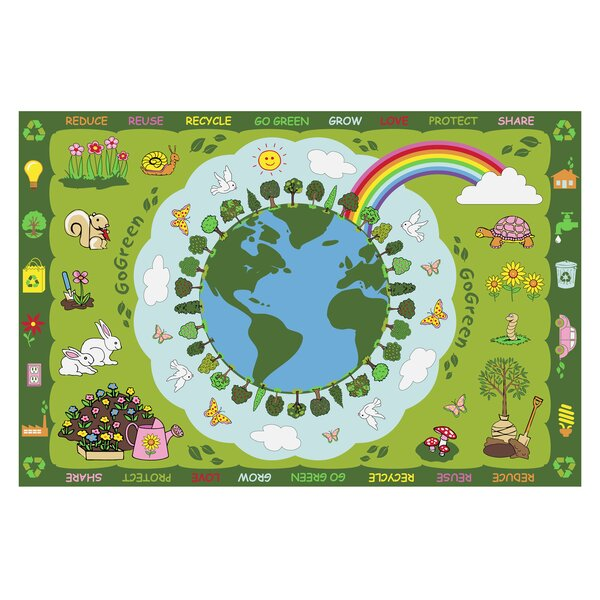 Fun Time Go Green Kids Rug by Fun Rugs