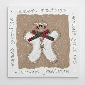 'Gingerbread Man' Painting Print on Wrapped Canvas by The Holiday Aisle