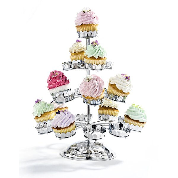 Cup Cake Tiered Stand by Godinger Silver Art Co