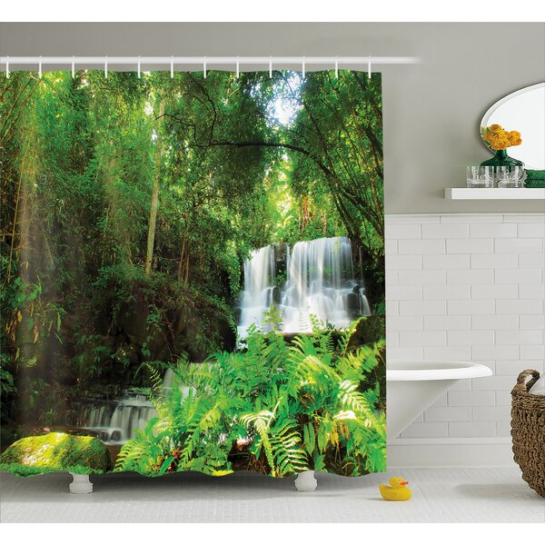 Scenery Spring Botanic Forest Shower Curtain by East Urban Home