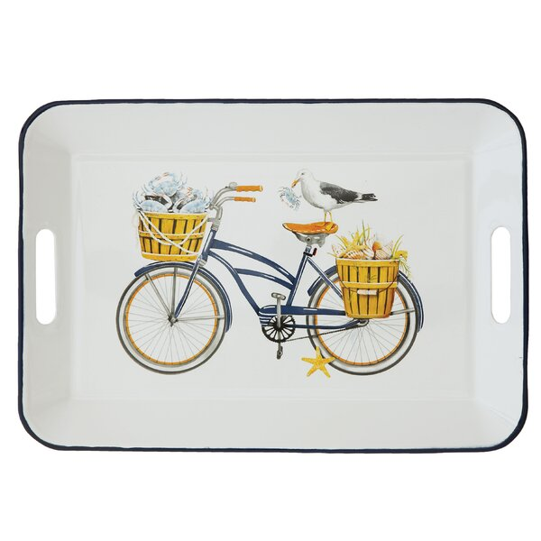 Khanh Enameled Tin Serving Tray by Highland Dunes