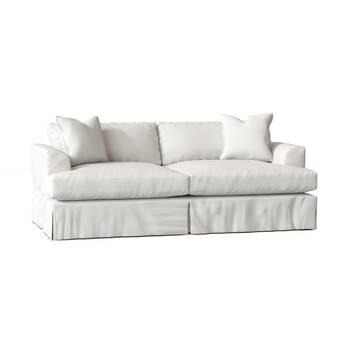 Casey 88 Slipcovered Rolled Arm Sleeper Sofa Reviews Joss Main