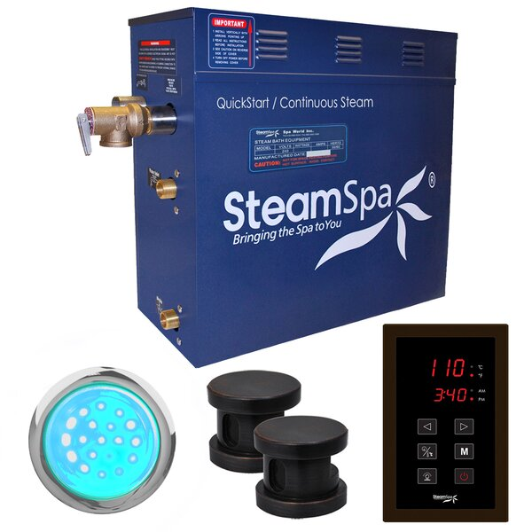 Indulgence 10.5 kW QuickStart Steam Bath Generator Package by Steam Spa