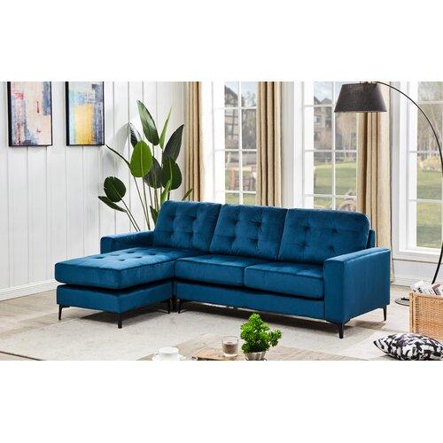 Damina Reversible Modular Corner Sofa Ebern Designs