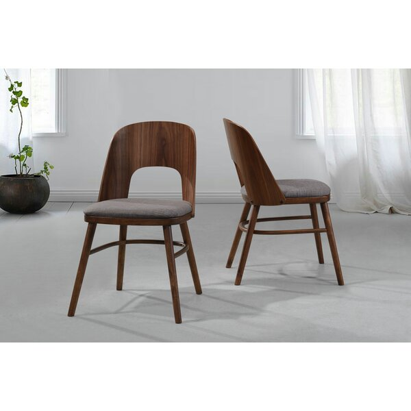 Dana Upholstered Dining Chair with Wood Seat Back (Set of 2) by Modern Rustic Interiors