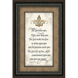 The Lord Bless You Framed Textual Art by Carpentree