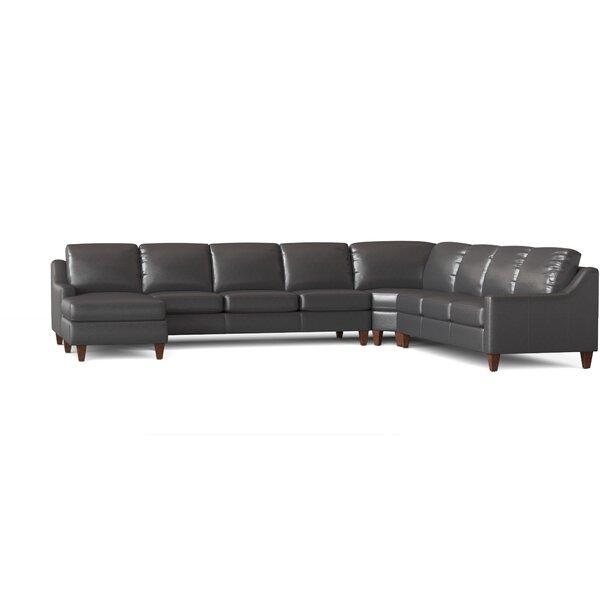 Leather Sectional With Chaise By Wayfair Custom Upholstery™