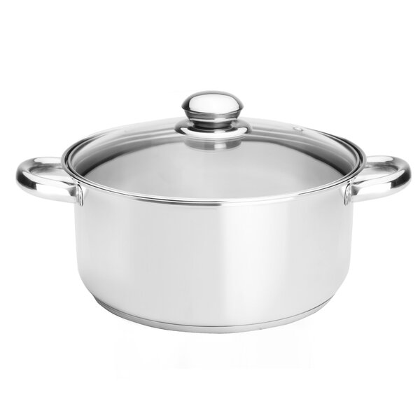 Classicor 5-1/2-Quart Stainless Steel Dutch Oven with Lid by Kinetic