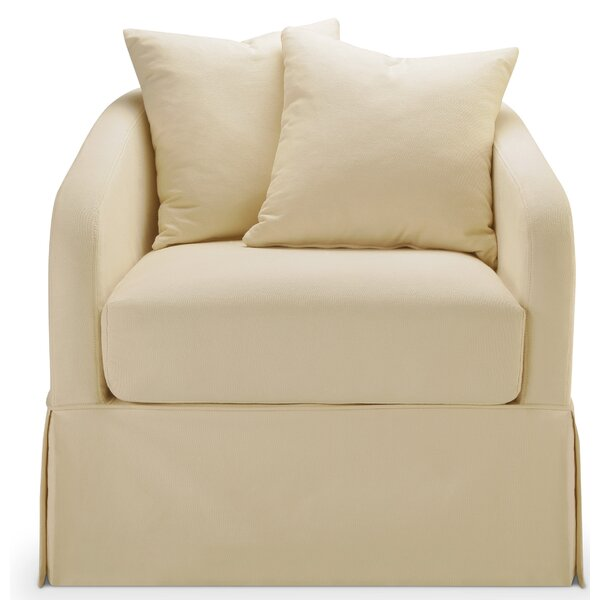 Chaffin Slipcover Swivel Barrel Chair by Darby Home Co