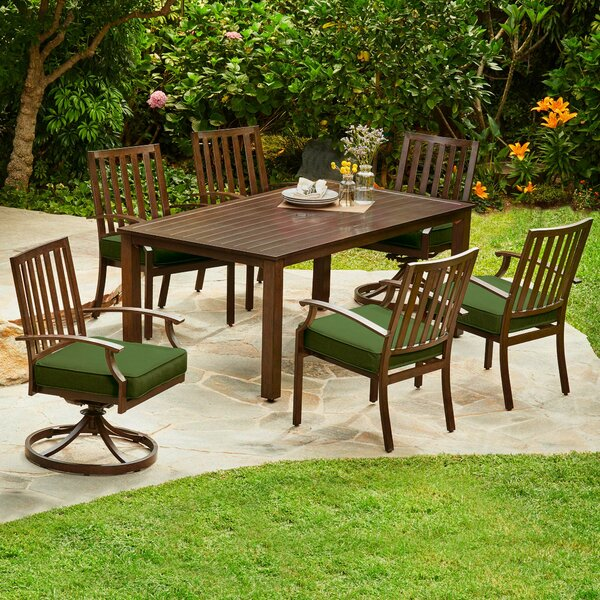 Delma 7 Piece Dining Set with Cushion by Darby Home Co