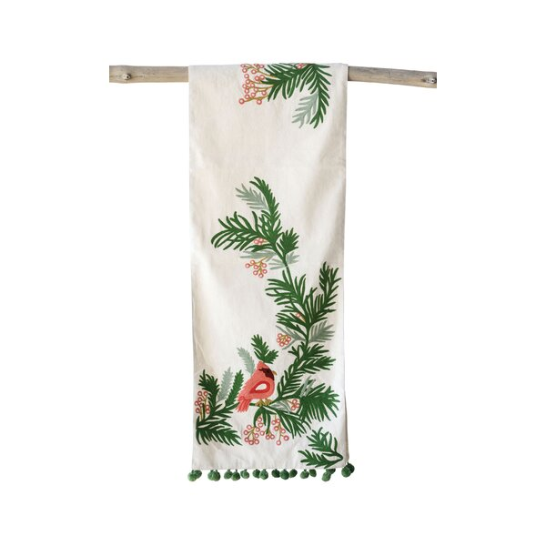 Cowan Cotton & Polyester Woven Embroidered Table Runner by The Holiday Aisle