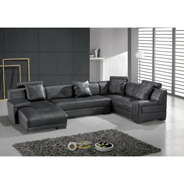 Houston Leather Sectional by Hokku Designs