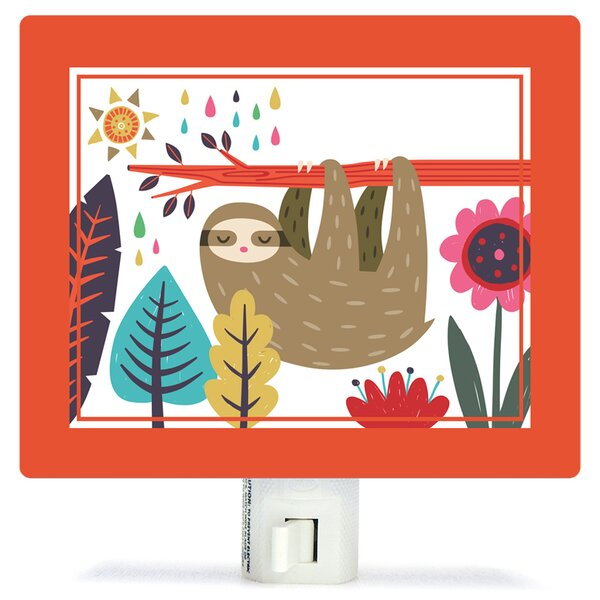 Sleepy Sloth by Irene Chan Canvas Night Light by Oopsy Daisy