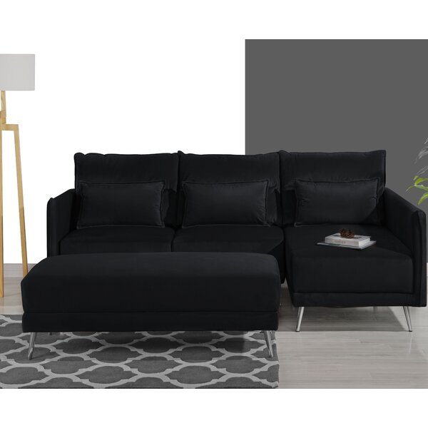 Tivoli Sectional with Ottoman by Wrought Studio