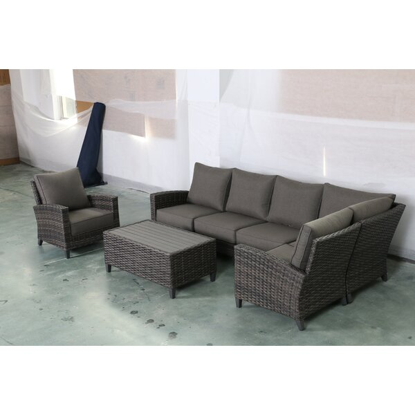 Rebeca 7 Piece Sectional Seating Group with Cushions by Bayou Breeze