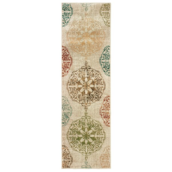 Hedberg Medallions Ivory Area Rug by Bloomsbury Market