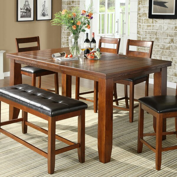 Lecroy Extendable Dining Table by Millwood Pines