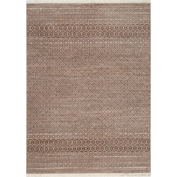 Maggie Tribal Stripes Beige/Cream Area Rug by Bungalow Rose