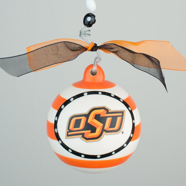 Oklahoma State Stripe Ball Ornament by Glory Haus