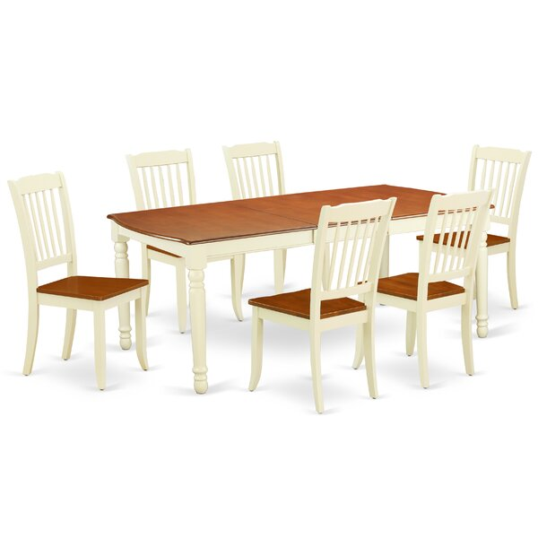 Kulik 7 Piece Extendable Solid Wood Dining Set by August Grove