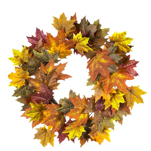 Autumn 22 Maple Leave Wreath (Set of 4) by Loon Peak