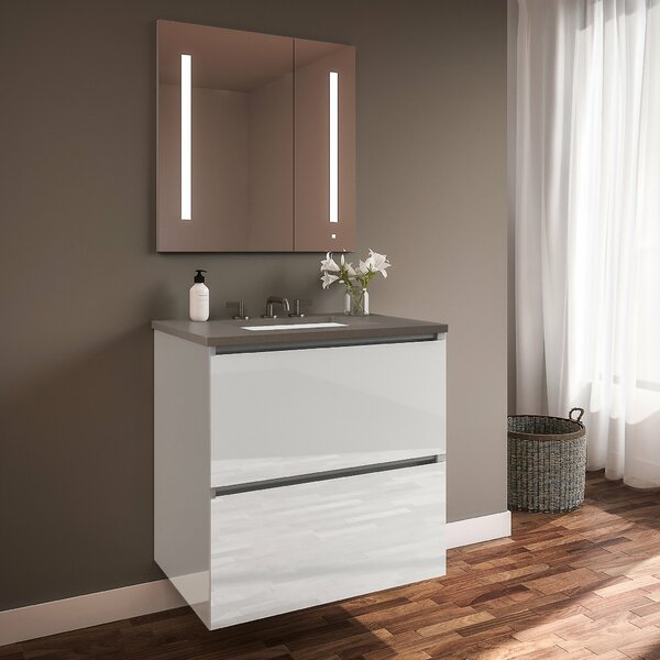 Curated Cartesian 36 Wall-Mounted Single Bathroom Vanity Set by Robern