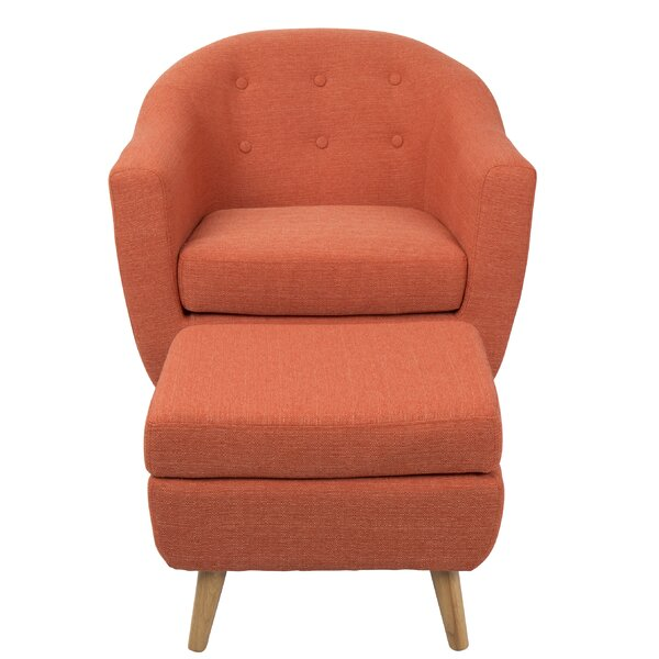 Henley Barrel Chair and Ottoman by Langley Street