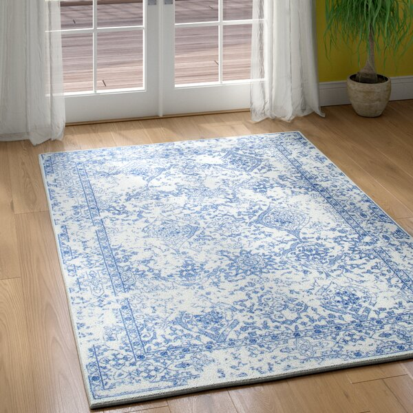 Savanah Navy Blue Area Rug by Charlton Home