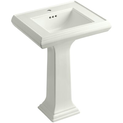 Pedestal Sink Ceramic Overflow Faucet Mount Single 847 Product Image