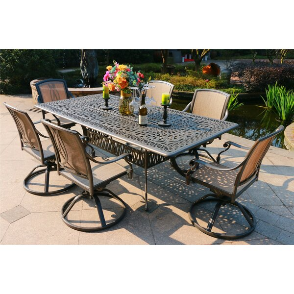 Bancroft Aluminum 7 Piece Dining Set by Canora Grey