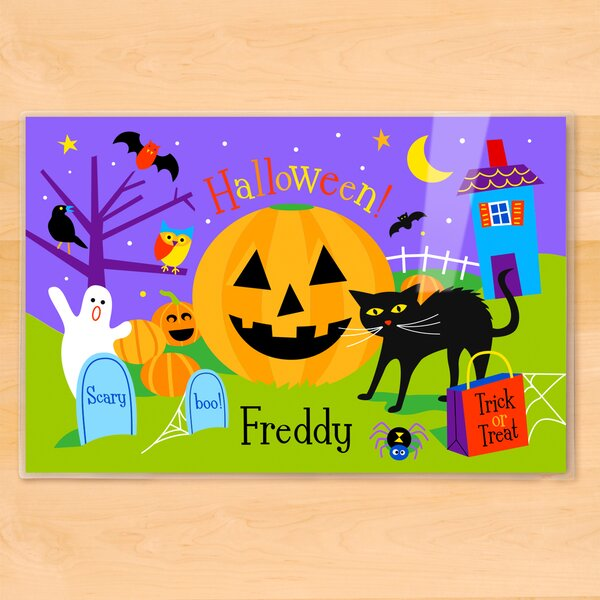 Halloween Pumpkin Personalized Placemat by Olive Kids