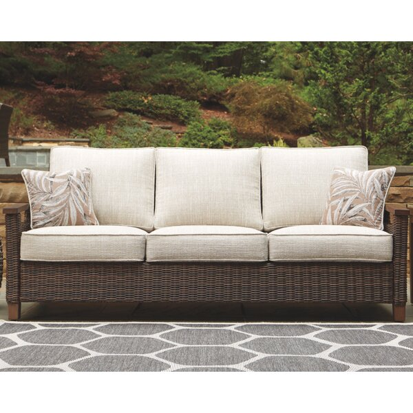 Estill Patio Sofa with Cushions by Highland Dunes Highland Dunes