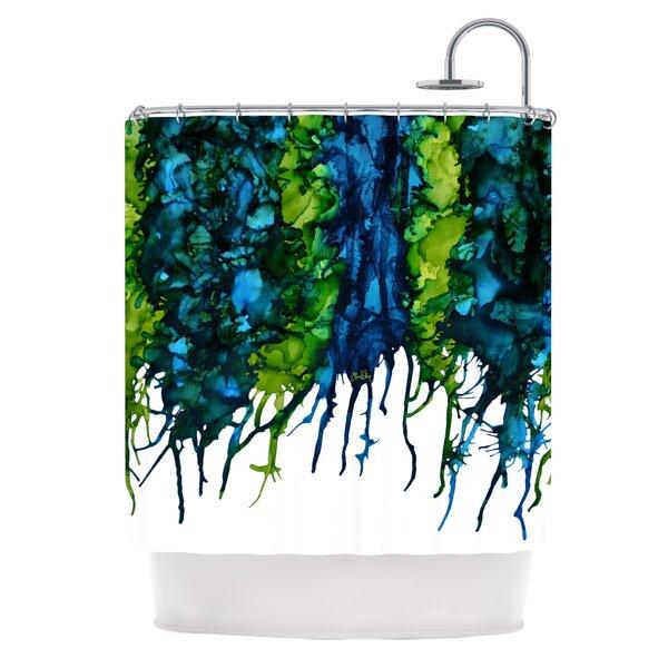 Drop Shower Curtain by KESS InHouse