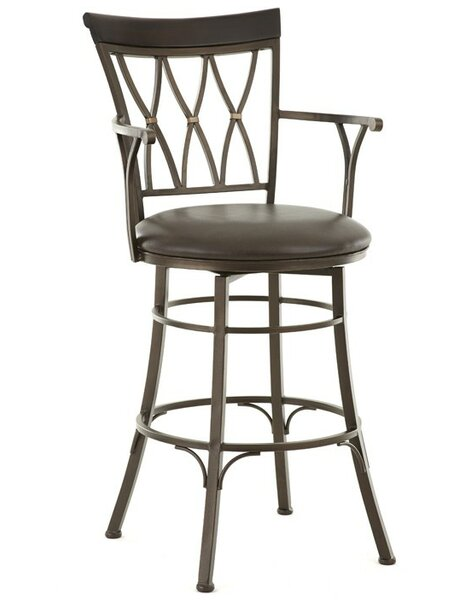 Ellis Island 30 Swivel Bar Stool by Red Barrel Studio
