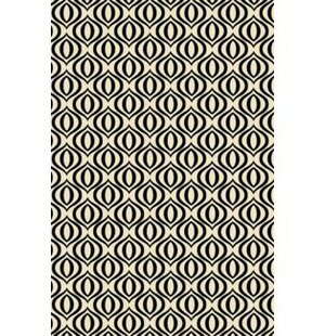 Great Price Shea Ring of European Design Black/White Indoor/Outdoor Area Rug By George Oliver