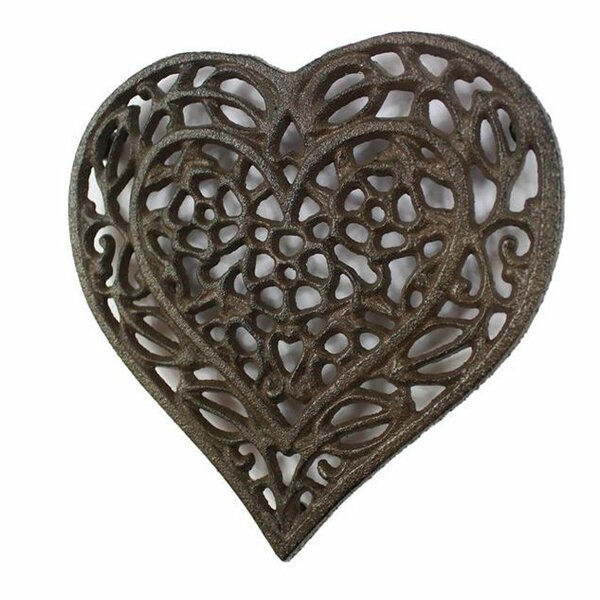 Heart Shaped Cast Iron Trivet by August Grove
