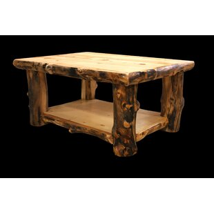 Amias Coffee Table with Shelf Millwood Pines