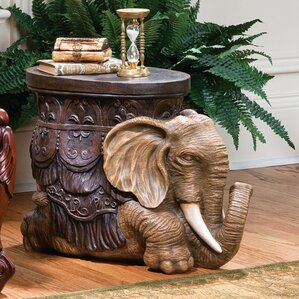 Allegheny Sculptural End Table by World Menagerie