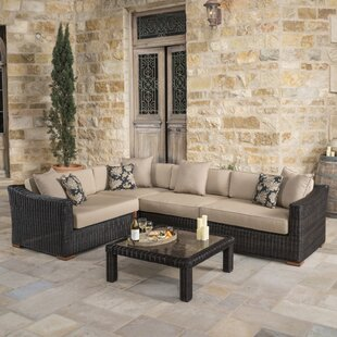 Monroeville 5 piece Sunbrella Sectional Set with Cushions