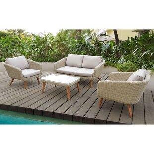 Llanas 4 Piece Sofa Set with Cushions ByBrayden Studio