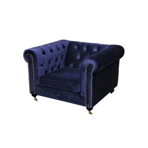 Noelia 1 Seater Chesterfield Sofa by Everly Quinn