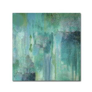 Aqua Circumstance II by Color Bakery Painting Print on Wrapped Canvas by Trademark Fine Art