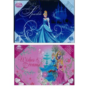 Disney Princess Light Up 2 Piece Graphic Art Set on Canvas by Linen Depot Direct