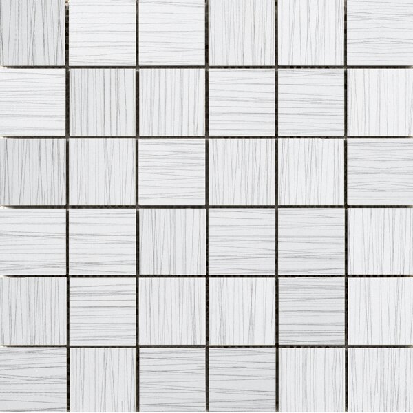 Thread 2 x 2 Porcelain Mosaic Tile in White by Emser Tile